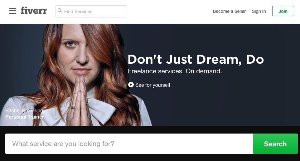 Fiverr - don't just dream do