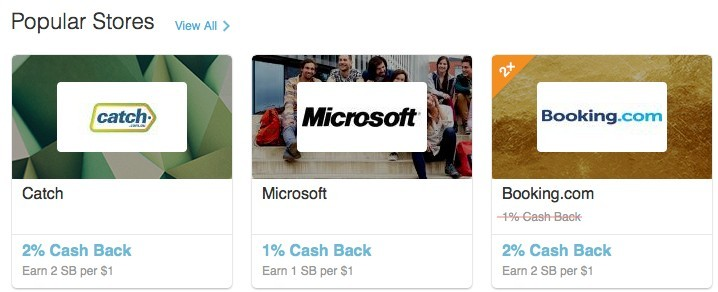 Swagbucks cash back with online shopping