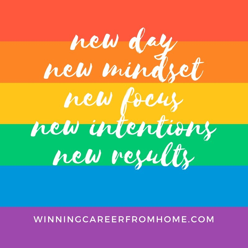 New day, new mindset, new focus, new intentions, new results