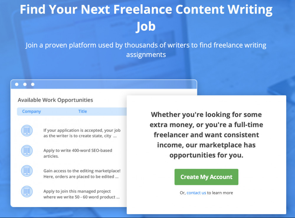 Freelance Writing From Home with Crowd Content