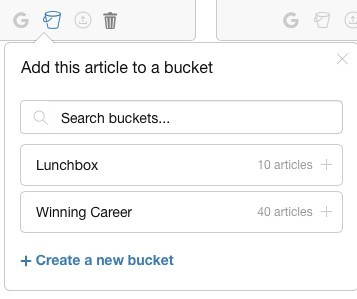 Site content the ultimate writing platform - using buckets