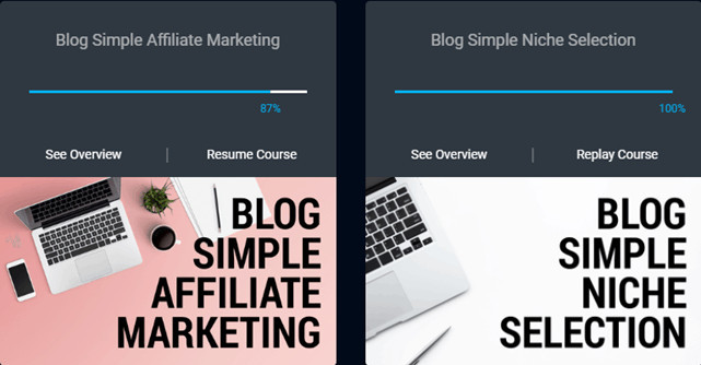 Blog Simple Affilaite Marketing And Blog Simple Niche Selection Courses
