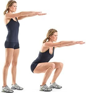 how to squat 2 position image