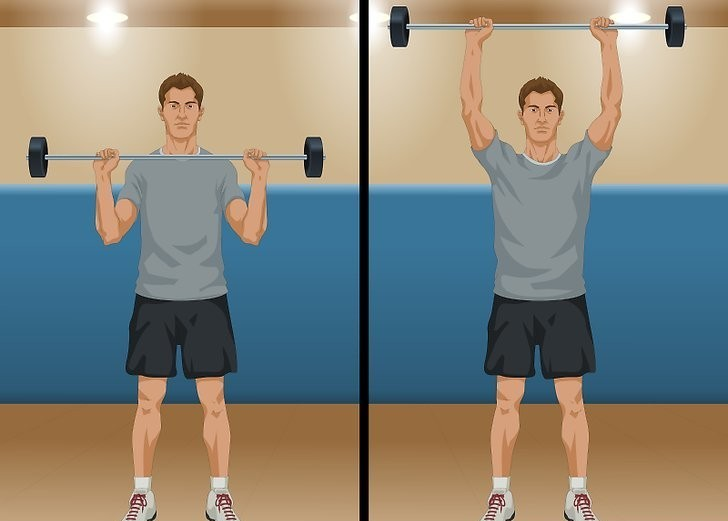 two position shoulder press image(courtesy of wikihow)