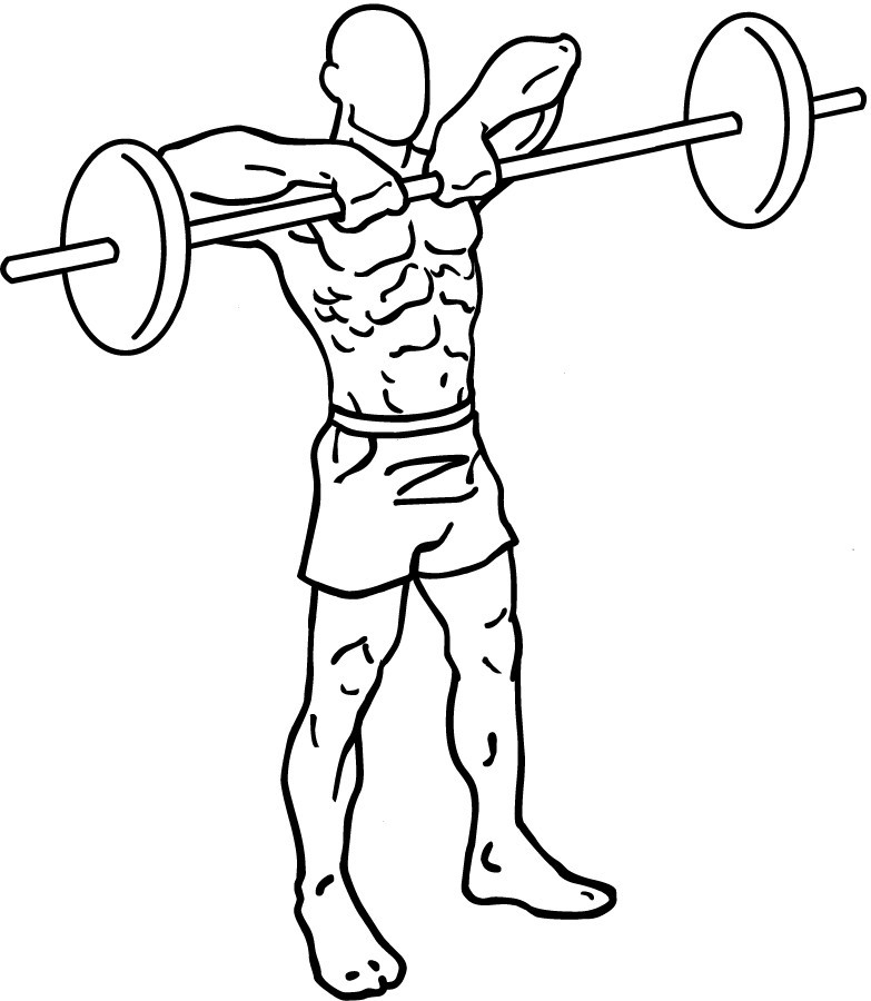sketch of a man holding a raised barbell(image courtesy of wikipedia)