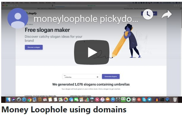 Money Loophole using domains