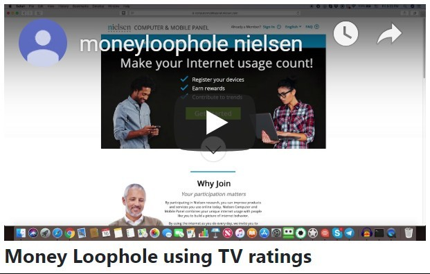 Money Loophole using TV ratings