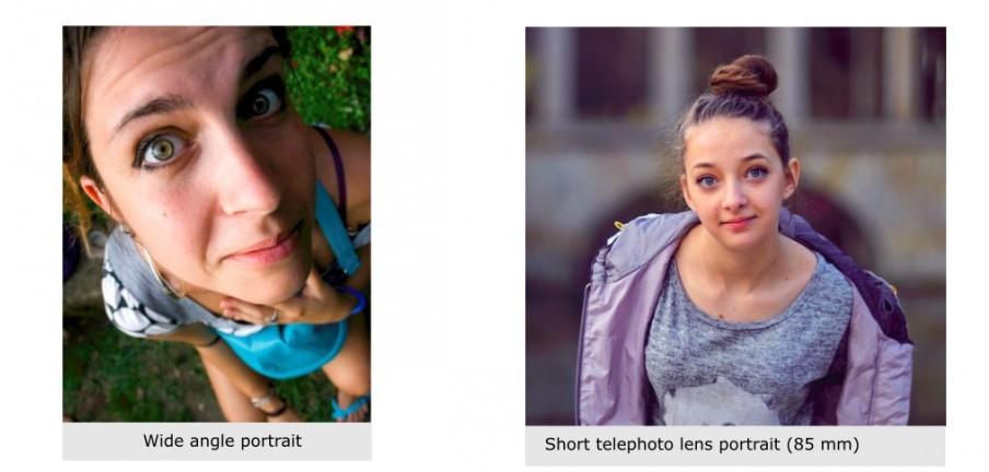 Wide and telephoto portrait comparison