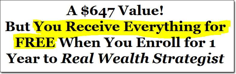 Bonuses of Real Wealth Strategist