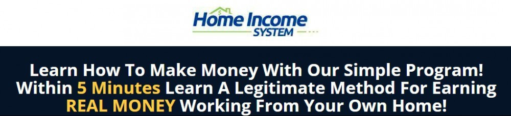 Home Income System's promise