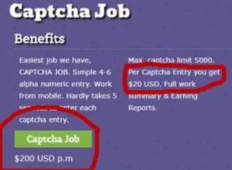 Captcha-scam