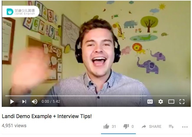 Demo of teaching and interview tips for Landi English