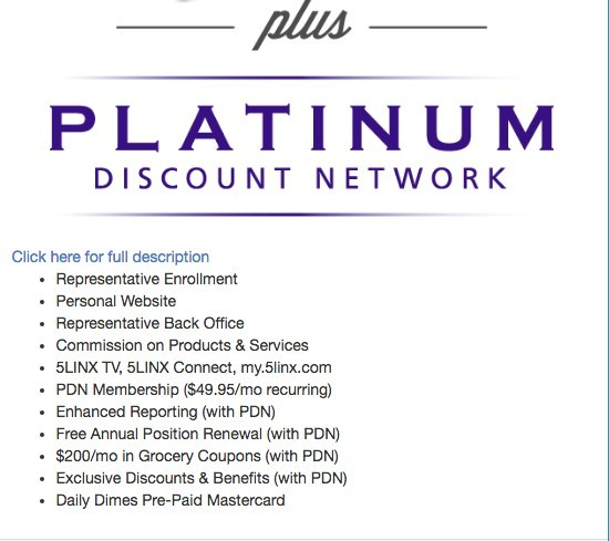 Description of Platinum discount