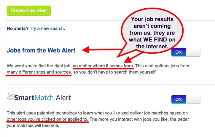 Next job searches
