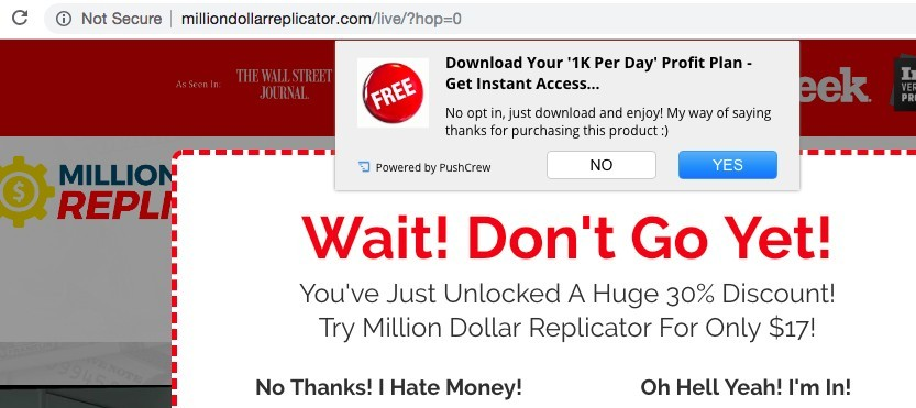Million Dollar Replicator discount