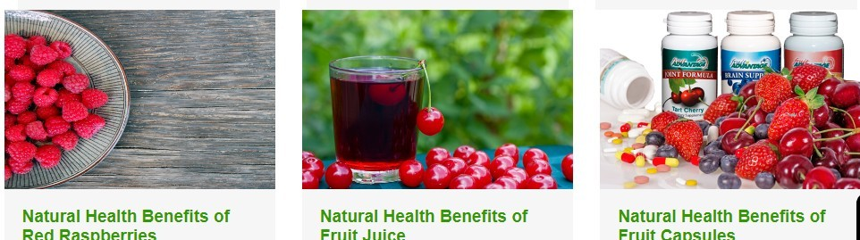 Raspberries, Fruit Juice, Fruit Capsules