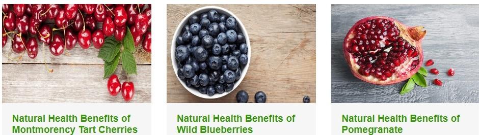 Tart Cherries,Blueberries, Pomegranate