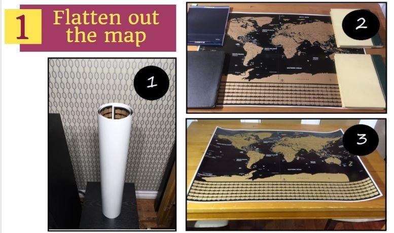 flatten a scratch map
