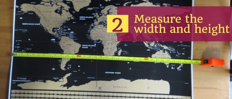 measure the scratch map