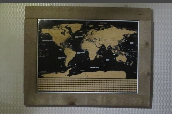 Scratch Map Barn Wood Frame