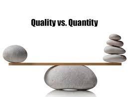 Quality versus Quantity - A Bloggers Delima