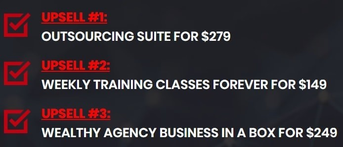 Wealthy Agency Upsells