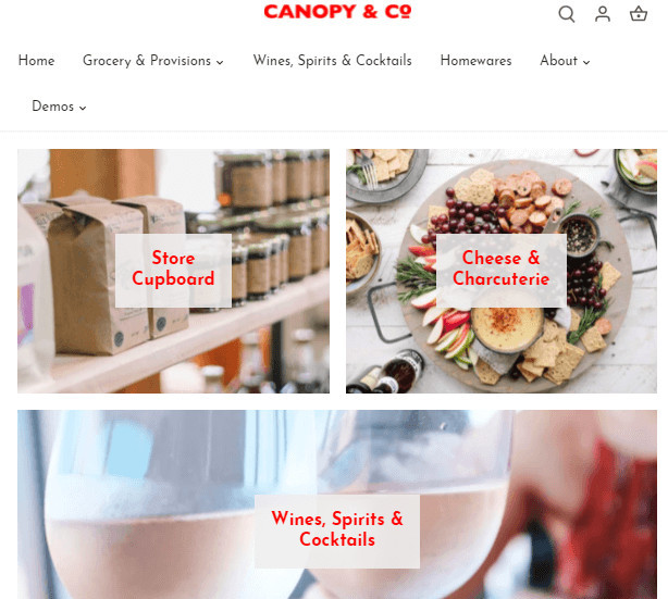 Canopy Food Delivery Shopify Theme