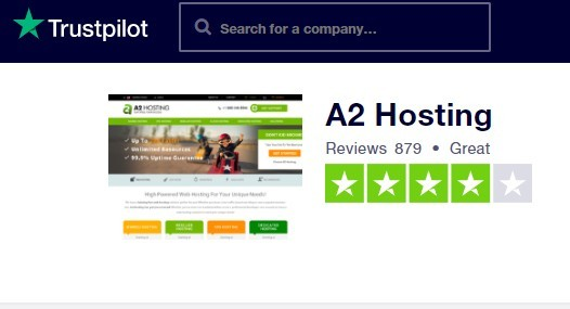 A2 Hosting Trustpilot Reviews