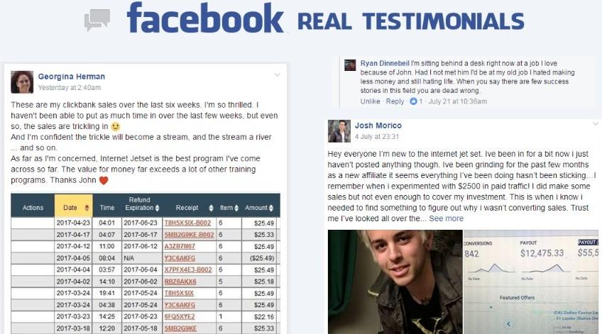 Internet Jetset Testimonials