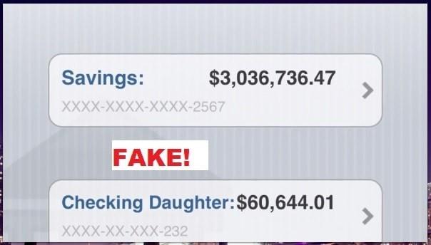 Fake Screenshots Jay Brown Account