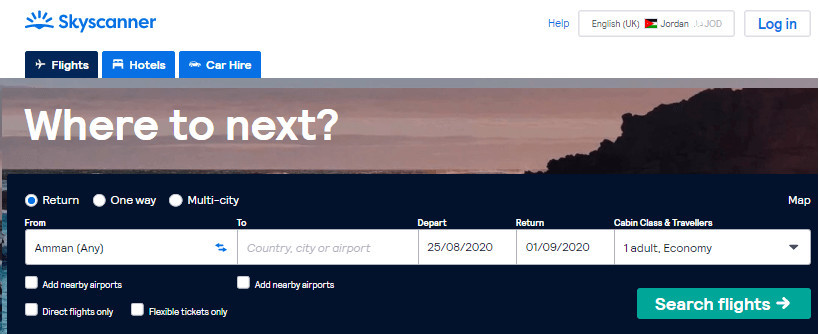 Skyscanner Products to Promote