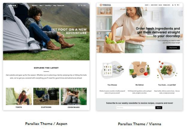 Shopify Parallax Theme Templates