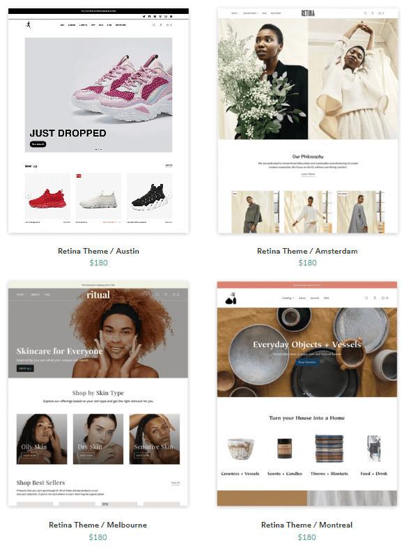 Retina Shopify Theme Templates