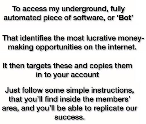 How Secret Millionaire Bot Works