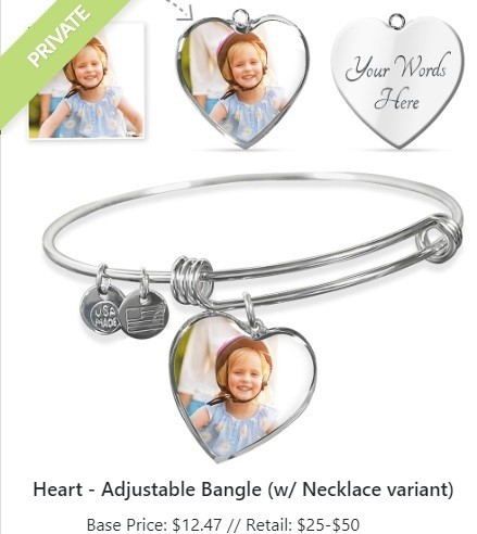 ShineOn Personalized Print On Demand Jewelry - Bracelet & Bangle