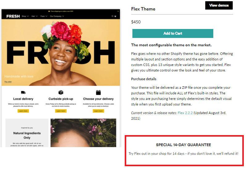 Flex Premium Shopify Theme Free Trial