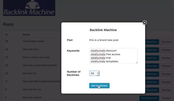 How WP Backlink Machine Works