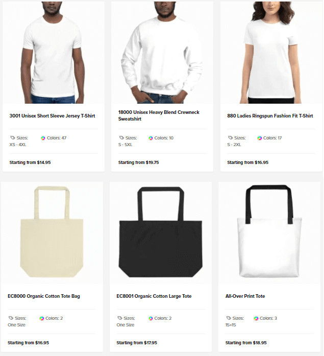 Sellfy Merch Prices