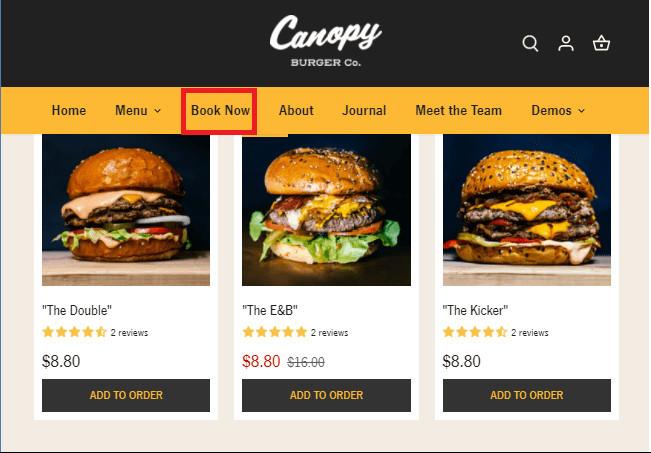 Canopy Shopify Restaurant Theme