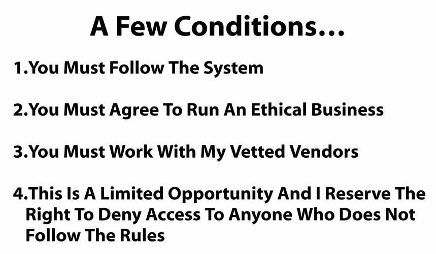 Conditions Of Joining Fast Track System
