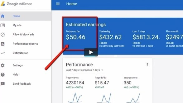 Easy Cash Club Results With Google Adsense