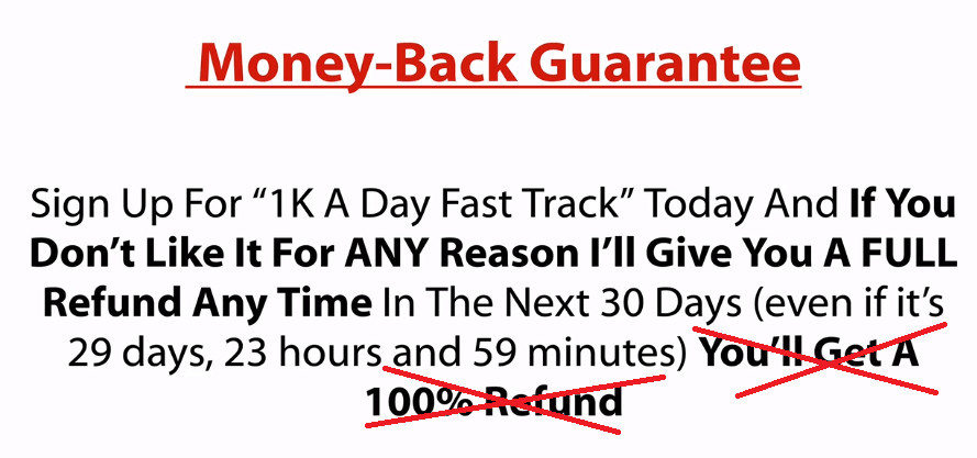 Fast Track System Money Back Guarantee