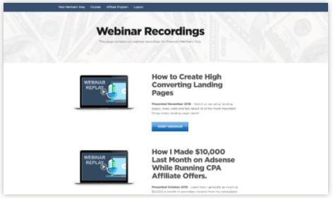 Powerhouse Affiliate Webinars