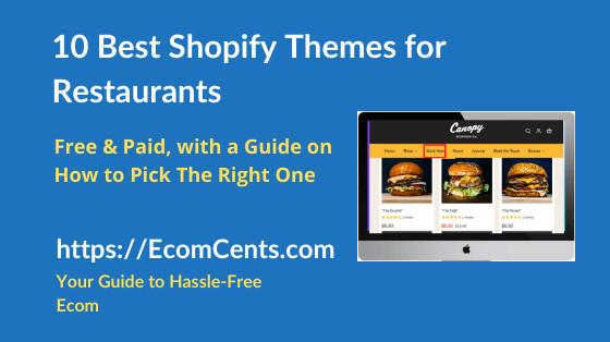 Best Restaurant Shopify Themes