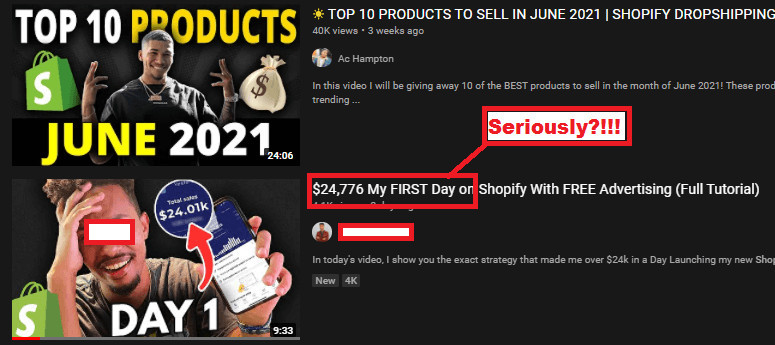 Affiliate Scams Promoting Dropshipping