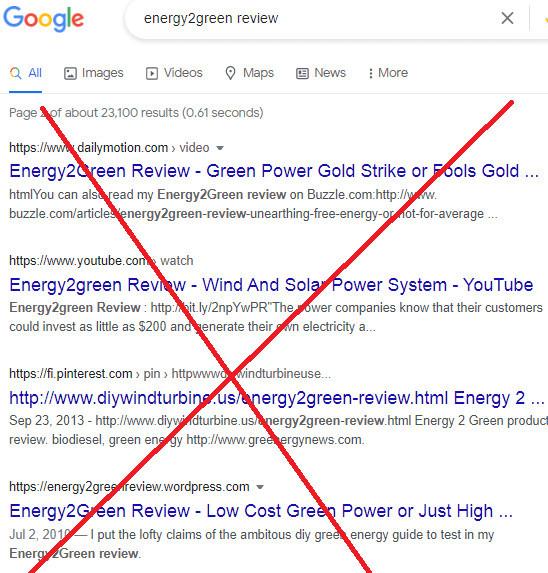 Energy 2 Green Fake Reviews