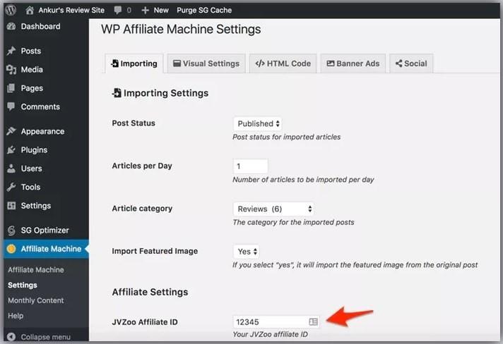 How WP Affiliate Machine Works