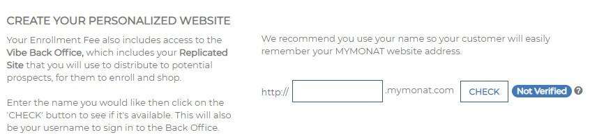 Monat Partner Website