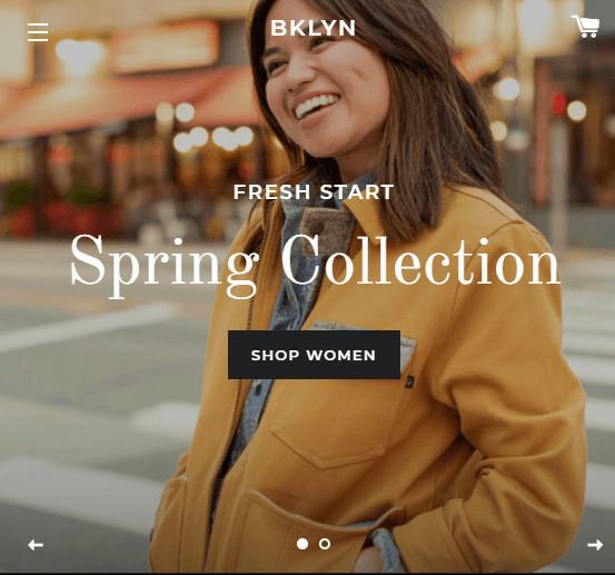 Slideshow Brooklyn Shopify Theme