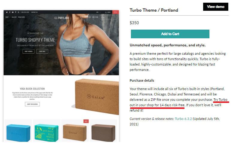 Turbo Paid Shopify Theme Free Trial